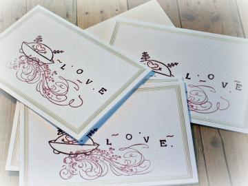 Out of This World - Set of 4 Notecards w Envelopes - Beloved Collection - Little Friends Series