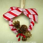Candy cane tiny ribbon wreath