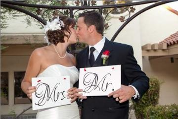 Mr. & Mrs. Wedding Signs