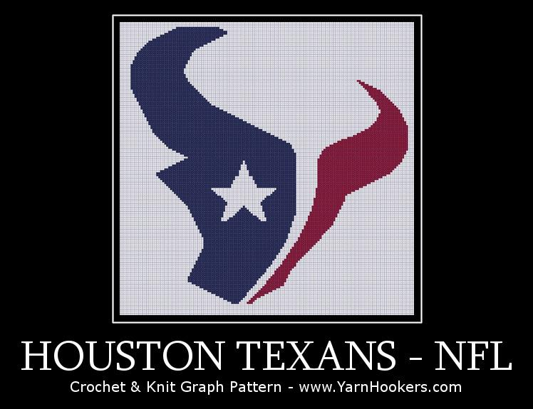 Houston Texans - NFL - Afghan Crochet Graph Pattern Chart