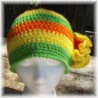 Crocheted Hat Lime Lemon Orange