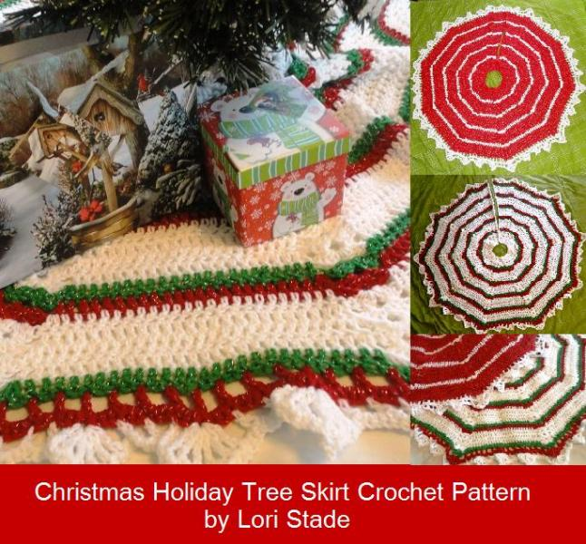 Crochet Xmas Tree Skirt : Striped Christmas Tree Skirt Crochet Pattern