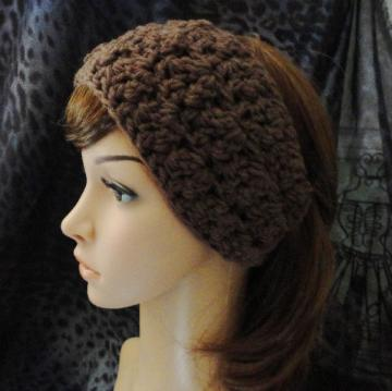 Brown Crocheted Headwrap