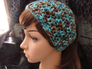 Brown and Turquoise Multi-color Headwrap