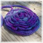 Crocheted Flower Purse Purple Pink Turquoise