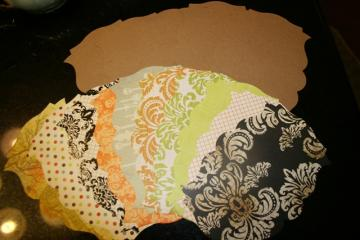 Halloween chipboard mini scrapbook album with pages and collage sheet  MA85