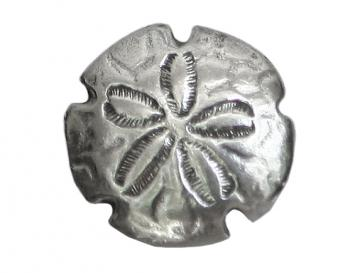 Danforth Sand Dollar Pewter Shank Button 3/4 inch ( 18 mm ) Color: Silver