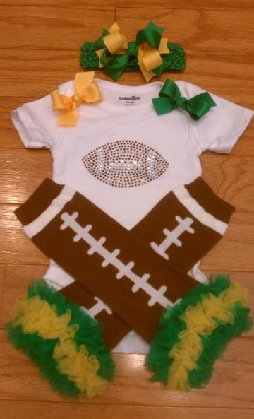 Football Onesie set  you choose your colors