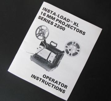 Telex Insta-Load XL 2200 Owner Manual Instruction Book Original Paper Film Projector