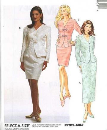 UnCut McCalls 7460 Sewing Pattern Misses Two Piece Semi Formal Suit Set sizes Extra Small to Small