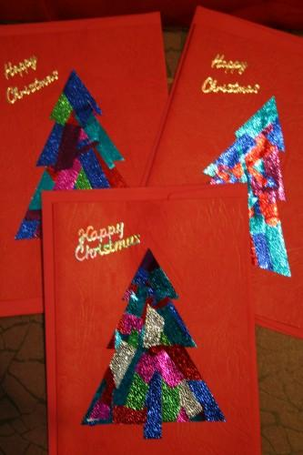 3 Foiled Christmas Cards