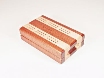 Compact Travel Cribbage - Jatoba and Maple