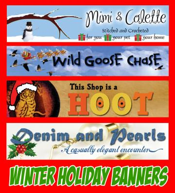 Christmas Holiday Zibbet Banner
