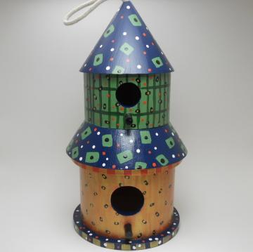 Lively Dotted Birdhouse