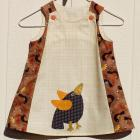 Appliqued Crow A Line Dress Size 12 Months