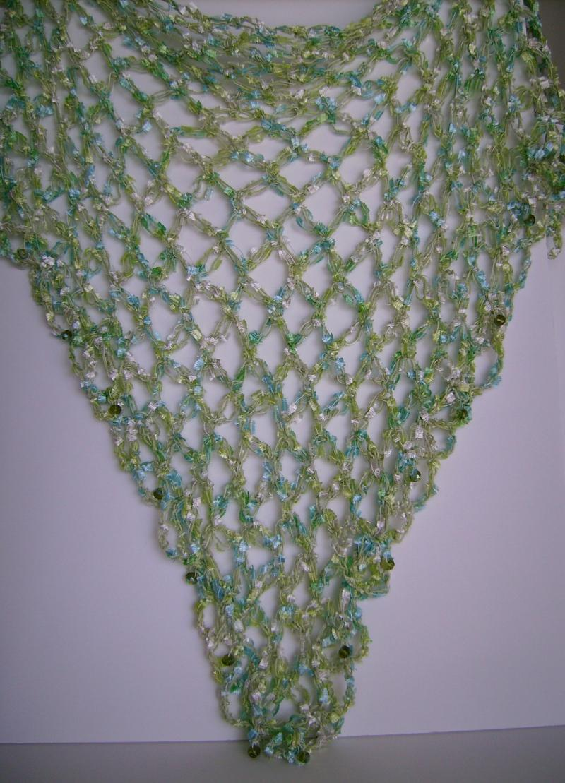 Crochet Knot Stitch Shawl : ... and Blue Triangle Shawl Crocheted, Love Knot Stitch, FREE SHIPPING