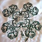 Embroidered 4 leaf clover Irish shamrock plush decorative pillow