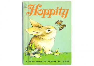 Hoppity Bunny Rabbit 1967 Rand McNally Jr. Elf Childrens Book 8144