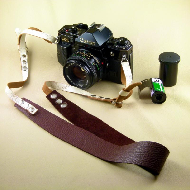 Handmade Adjustable Leather Camera Strap by FleurdeLeather on Zibbet