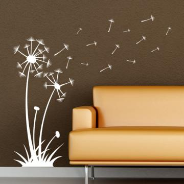 Blowing Dandelion, vinyl wall art decal by Off the Wall Expressions