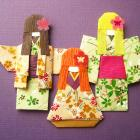 Japanese Origami Paper Doll Tomodachi Set of 3