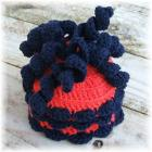 Orange and Blue Noodle Top Hat