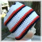 Orange White Blue Star Top Hat 2