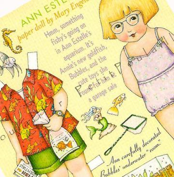 Mary Engelbreit Home Companion Original Paper Doll Sheet Featuring Ann Estelle