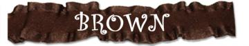 Brown 1.5 10 yards Double Ruffle Ribbon