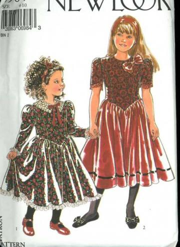 McCalls 5190 Girls Special Occasion Dress Pattern by nanastrunk
