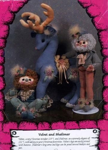 Unused Kalio Kastle Sewing Pattern Soft Sculpture Elves & Reindeer