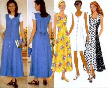 UnCut Butterick 4932 Sewing Pattern Misses Princess Seam Summer Dress sizes 6 to 10