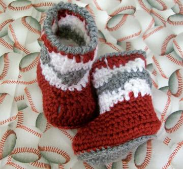 Baby Boy Boots Red Grey White