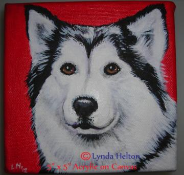 5&quot; x 5&quot; Original Pet Portrait from Your Photos