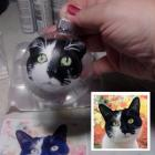 "One Face, 4"" Hand Painted Pet Portrait Ornament!"