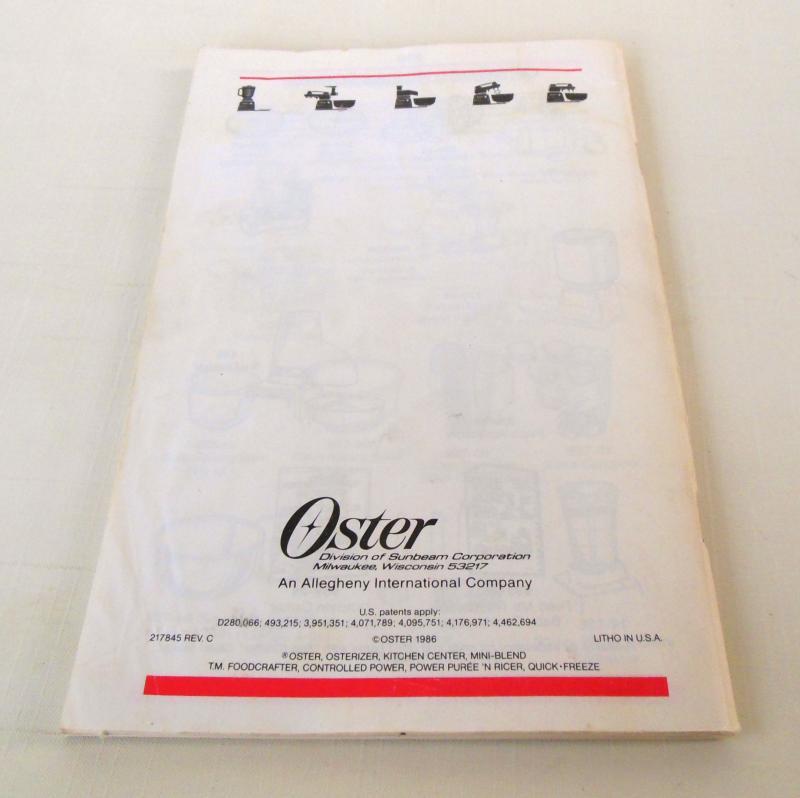 oster regency kitchen center manual pdf