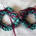 Ribbon Wreath Hair Clips