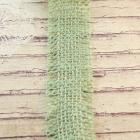 Burlap trims in sage green color-2 yards