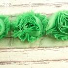 Green Shabby Chic flowers trim,14 flowers
