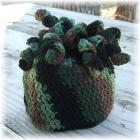 Crocheted Kids Hat Noodle Top Camo