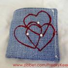 Denim Heart wallet