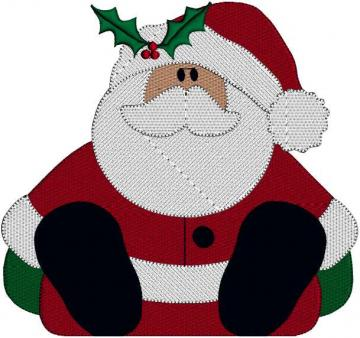 Santa Claus Santa St Nicholas Chris Kringle Christmas Holiday Embroidery Design Pattern