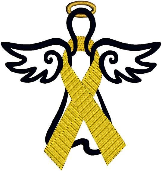 Yellow Cancer Ribbon Awareness ribbon breast cancer