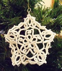 Hand Tatted Star Ornament