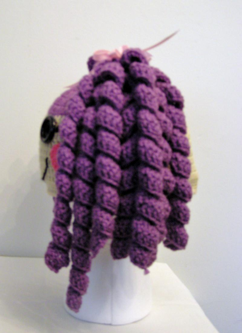 Lalaloopsy - Purple hair crochet hat. Pre order.