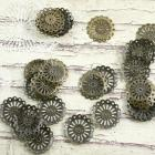 Aroy scallop circle charms 30 pieces