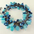 Aqua beaded bracelet
