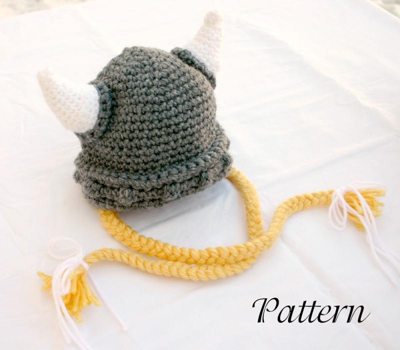 Crochet Pattern Helmet Hat : Click to Enlarge Image