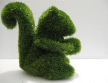 Grass Land Handmade Animal Squirrel with Artificial Turf