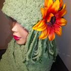 Womens&#039; Pale Green Cloche And Scarf